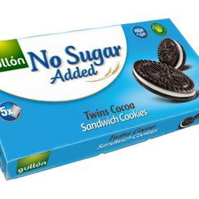 GULLÓN – TWINS – Kakaové sušienky plnené krémom, bez prídavku cukru 210 g (OREO)